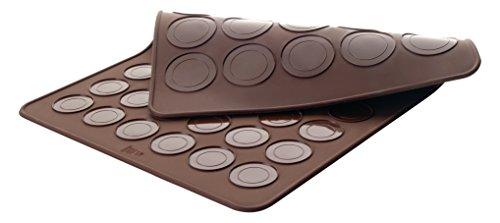 Lacor - 66753 - Molde Para Macarons Doble 39 x 29 cm - Marrón