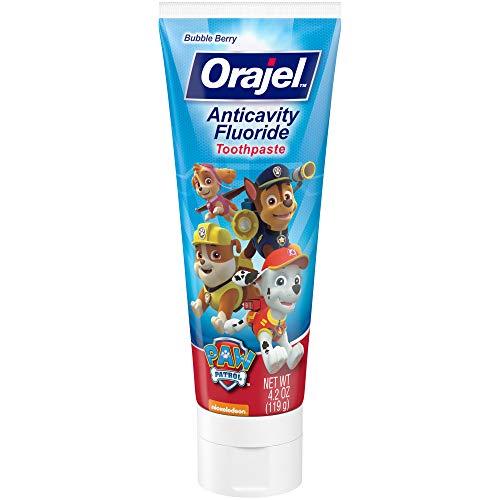 Orajel PAW Patrol Anticavity Fluoride Toothpaste, Bubble Berry, 4.2 oz.
