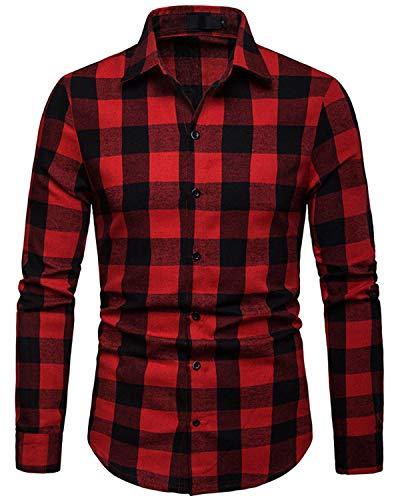 Camisa de cuadros para hombre blanco y rojo color negro Lee Cooper S//S