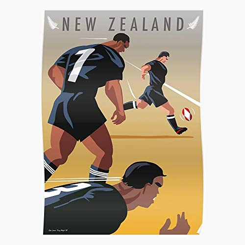League Carisbrook Union Ball Park Goal Eden Kickoff Teams Tackles Post Rfu Football Nrl Springboks Rugby Pumas All Blacks Lions Wallabies Waikato Home Decor Wall Art Print Poster ! Home Deco