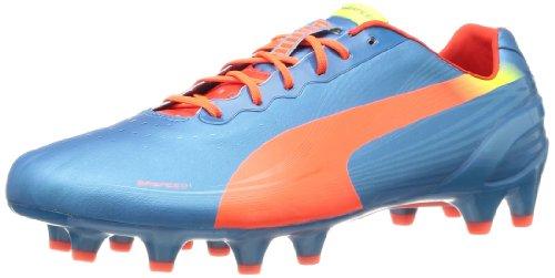 Puma Herren evoSPEED 1.2 FG Fußballschuhe, Blau (sharks blue-fluro peach-fluro yellow 05), 43 EU