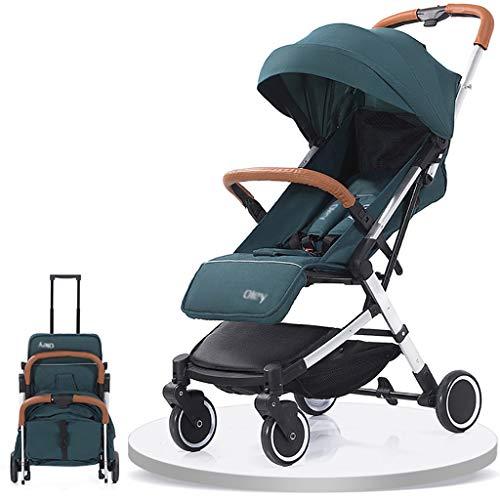 LWJJHJ Opvouwbare Baby Kinderwagen Reizen Systeem Babyvervoer Eenhands Compact Vouwen, Uitschuifbare luifel