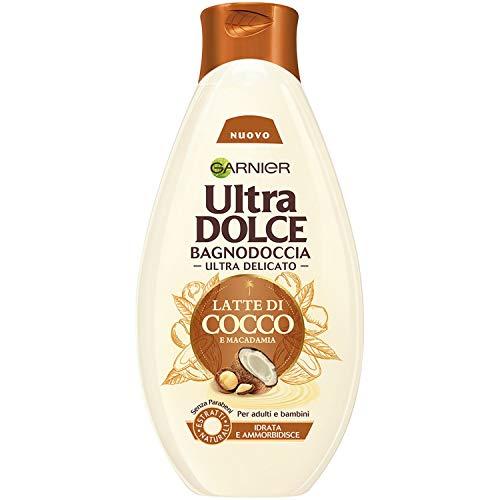 GARNIER Ultra Dolce Bagnodoccia Latte di Cocco e Macadamia - Bagnoschiuma Idratante, Cocco, 500 ml
