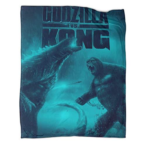 Sofá con suave calidez manta Godzilla Vs King Kong Comfort Luxury Faux Fur Manta (100 x 130 cm)