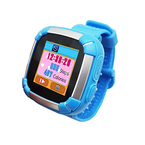 GPS-Telefon Uhr,Kinder Smartwatch Telefon Uhr,Touch LCD Kid Smart Watch für Jungen Mädchen mit SOS Anruf Kamera Anti-Lost Voice Chat,Wasserdicht,Live GPS+LBS Positionierung, funktioniert weltweit