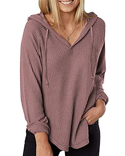 Zanzea Mujer Camisetas Tallas Grandes Blusa Irregular Cuello V Manga Larga Color Sólido Casual Tops Jersey de Punto