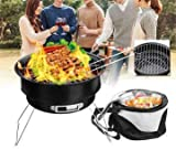Inllex 2 in 1 Portable Barbecue Oven Folding BBQ Grill with Cooler Bag Camping Hiking Picnic -...