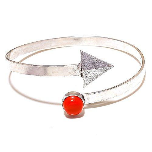 Gioielli regalo. Rosso corallo argento Sterling Overlay 10grams/bracciale formato libero