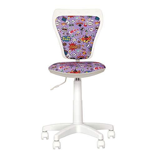 Chaise-expert - sedia da scrivania per bambini Ministyle Girevole a 360°. Altezza regolabile. Schienale regolabile, seduta regolabile in profondità.