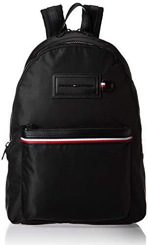 Tommy Hilfiger Modern Nylon Backpack, Herren Schultertasche, Schwarz (Black), 12.5x46x31.5 cm (W x H L)