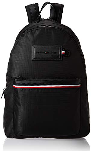 Tommy Hilfiger - Modern Nylon Backpack, Shoppers y bolsos de hombro Hombre, Negro (Black), 12.5x46x31.5 cm (W x H L)