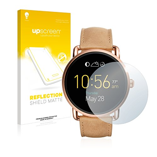 upscreen Entspiegelungs-Schutzfolie kompatibel mit Fossil Q Wander 2.0 – Anti-Reflex Bildschirmschutz-Folie Matt
