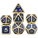ExcLent 7 Pezzi/Set Di Dadi In Lega Di Metallo Set Da Gioco Gioco Di Carte Poker Sotterran...