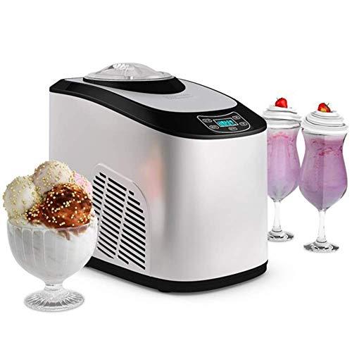 QWEAS Automatische Eiscreme-Hersteller, Eismaschine Gefrorenes Dessert Joghurt-Sorbet Mini EIS-Maschine LCD-Digital-Display-Kind-DIY