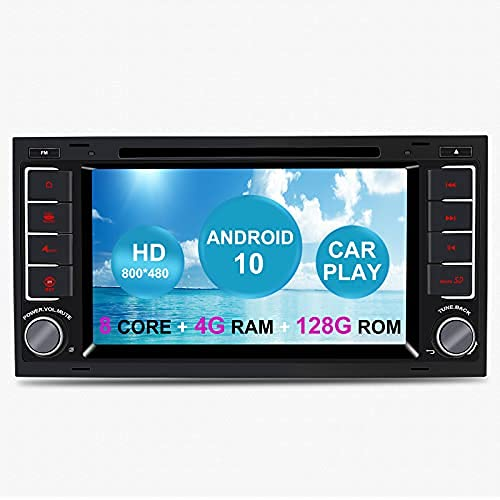 Unidad principal de radio de coche Android para VW Volkswagen TOUAREG T5 Transporter Android 10 LCD pantalla táctil reproductor de DVD coche sistema GPS con CarPlay TPMS OBD WiFi DAB+Bluetooth