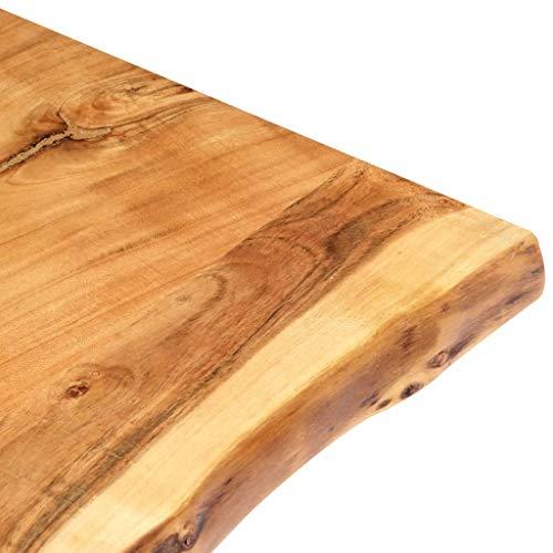 vidaXL Massivholz Tischplatte Baumkante Massivholzplatte Akazie 120x60x3,8 cm - 6