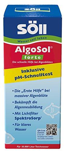 Söll 11121 AlgoSol forte Teichpflegemittel schnelle Hilfe gegen Algen im Teich 500 ml - hoch konzentrierte Teichpflege Algenbekämpfung mit Lichtfilter gegen Teichalgen Schwebealgen