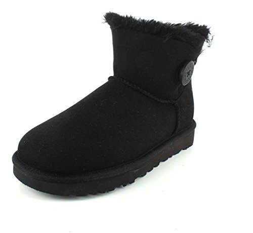 UGG Female Mini Bailey Button II Classic Boot, Black, EU 42 (UK 9.5)