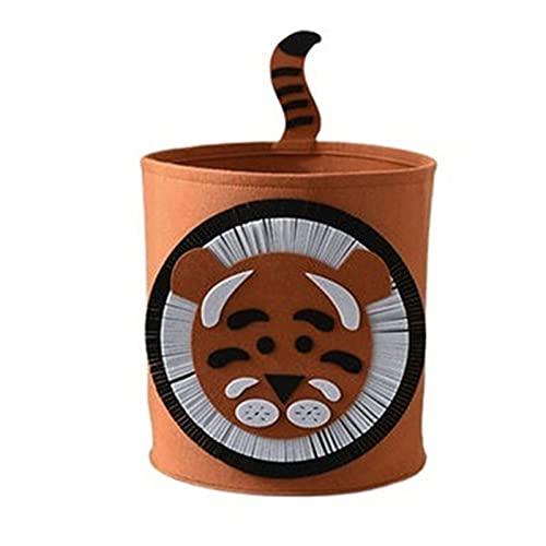 Huachaoxiang Caja De Almacenamiento para Niños, Canasta De Almacenamiento Grande, Caja De Almacenamiento De León/Elefante De Dibujos Animados En 3D Caja De Almacenamiento De Fieltro,C