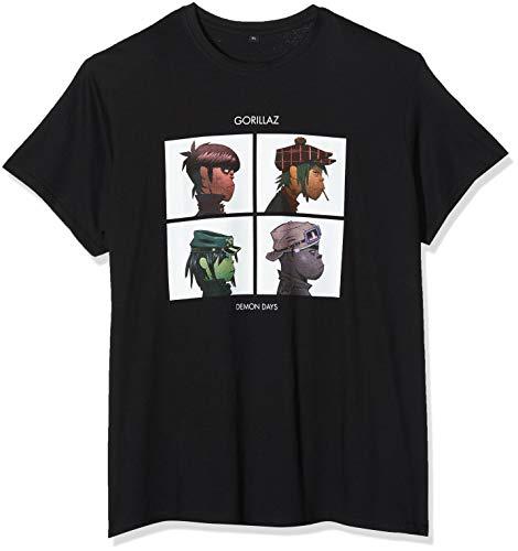 MERCHCODE Herren Gorillaz Demon Days Tee T-Shirt, Schwarz (Black 00007), X-Large (Herstellergröße: XL)