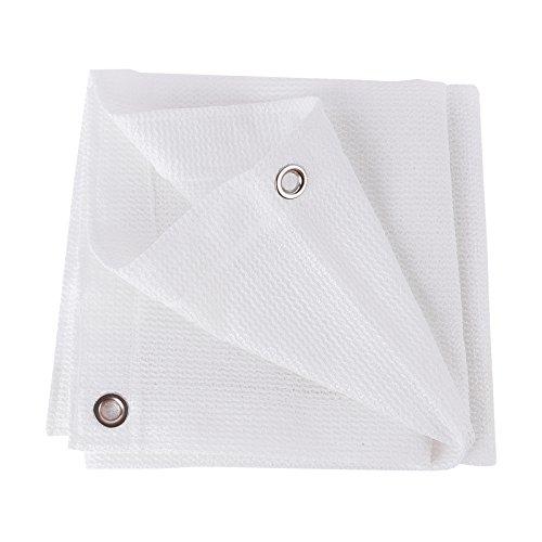 QIANGDA Blanc Filet D'ombrage Maille De Protection Solaire Store Blocage De La Lumière Tissu À Oeillets Polyéthylène Imperméable Balcon Couverture De Toit, Multi-Taille Optionnel (Taille : 3 x 8m)
