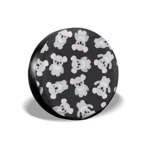 GOSMAO Cubierta de neumático Ajustable con Protector Solar a Prueba de Agua con patrón de Oso de Koala, Adecuada para automóvil, SUV, RV, Remolque, Cubierta de Rueda de neumático de 16 Pulgadas