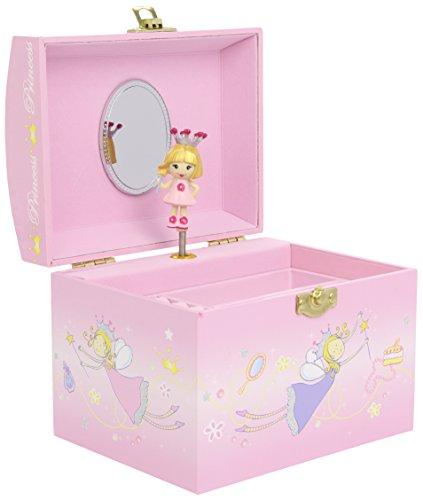TROUSSELIER - Princesse - Boîte à Bijoux Musicale en forme de Vanity - Idéal Cadeau Jeune Fille - Musique Piano Sonata de Mozart - Colori Rose