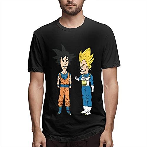 GCCZYJ T-Shirt a Manica Corta da Uomo,Beavis And Butt-Head Maglietta Sportiva a Maniche Corte in Cotone Casual Maglietta Estiva