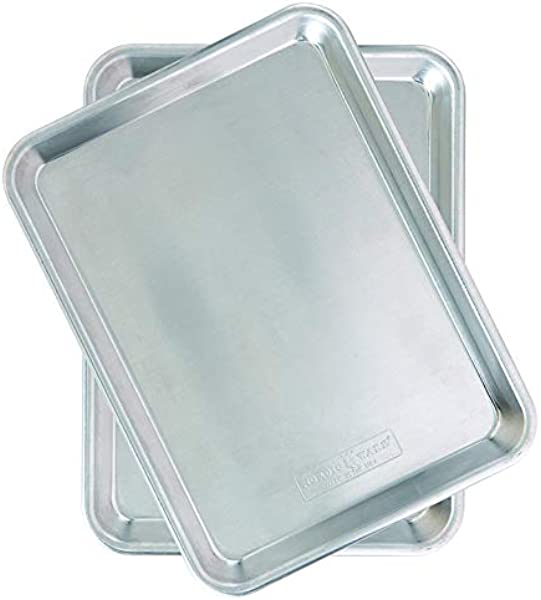 Nordic Ware Natural Aluminum Commercial Baker S Quarter Sheet 2 Pack