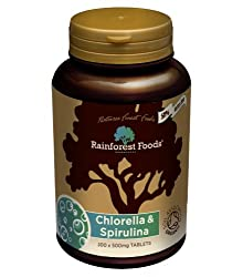 Broken-cell wall chlorella allowing for greater nutrient absorption and premium quality Arthrospira platensis Spirulina. High in Vitamin A, B12, D and Iron, and a source of Phycocyanin and Chlorophyll. Tablets are 100% pure, containing only organic b...