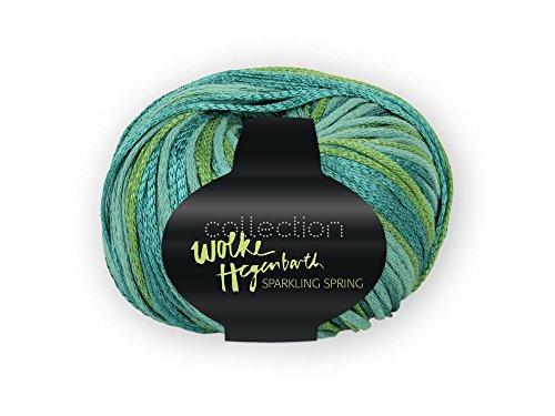 Wolke Hegenbarth 2 x 50g Sparkling Spring - Farbe: 9069 - tütkis-grün - Feines, Elegantes Effektgarn mit Wechsel in der Garnstruktur und Farbe aus der Collection (Lager: V-BRR-F)