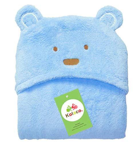 Mooie fleece babybadhanddoek schattige dierenvorm kind hooded babyhanddoek badjas mantel baby ontvangend deken # 8, goud