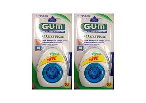 2x GUM Access Floss Zahnseide Sunstar 50m Dental Floss