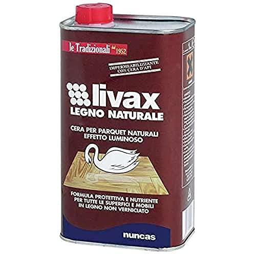 LIVAX Nuncas Legno Naturale Cera superfici Non verniciate - 1000ml