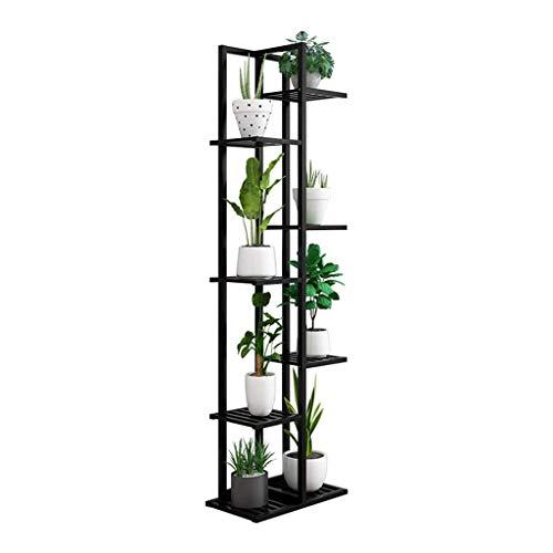 JOSN 7-laags bamboe plantenframe verbreed 8 potten pot display stand binnen en buiten tuin kas tuin natuur