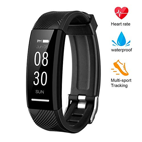 Fitness Tracker, Custom Activity Tracker with Heart Rate Monitor, Multiple Sport Modes Smart Watch Men, Women and Children Waterproof Bluetooth Pedometer