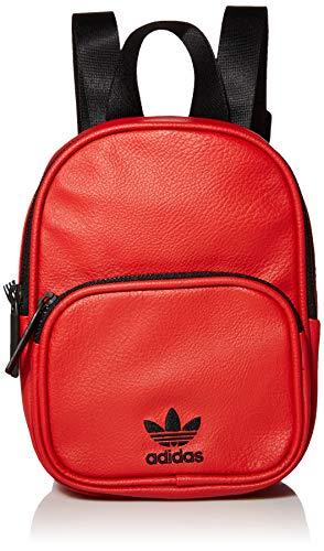 adidas Originals Mini-Rucksack, PU-Leder, Unisex, Unisex-Erwachsene, Rucksack, Originals Mini Pu Leather Backpack, Scarlet/Black, Einheitsgröße