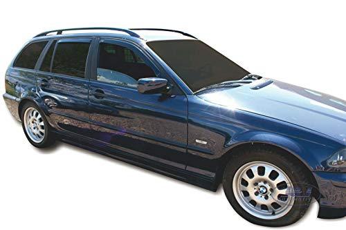 J&J AUTOMOTIVE Windabweiser Regenabweiser für 3er E46 Touring 5-türer 1998-2007 4tlg HEKO dunkel