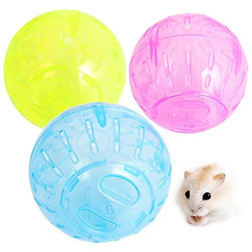 Carry stone 2 Stücke Pet Jogging Ball Hamster Run Ball 10 cm Kleine Pet Hamster Run Ball Rolling Ball Kleintier Hamster Run Gymnastikball Farbe ramdon Langlebig und Praktisch