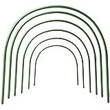 LJ123 6Pack Gewächshausreifen, gebogener Gartenbogenrahmen Rostfrei wachsen Tunnel Gartengewebe-Stützrahmen, Pflanzenstützenpfähle