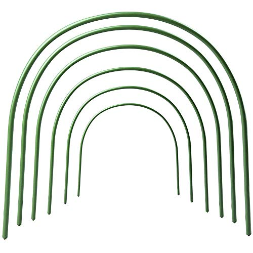 Shuifeng Greenhouse Hoops, 6Pcs Plant Supports for Garden, 4 Sizes Greenhouse Hoops Frame Tunnel, Grow Tunnel Adjustable Plant Support Garden Stakes for Garden Plants