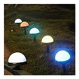 ZJHCC 2 uds, Luces LED para jardín, Foco Impermeable RGB, 8 Setas Que cambian de Color para jardín, Estanque, Paisaje, decoración al Aire Libre