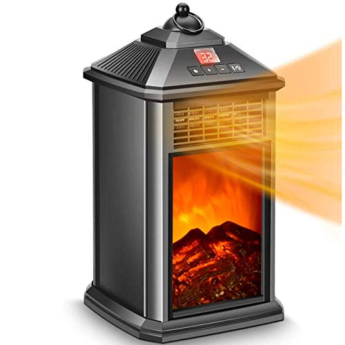 Portable Heater - Electric Fireplace Heater, Space Heater Fireplace 800W with Adjustable Thermostat Ceramic, Remote Control, Tip-Over & Overheat Protection, Heaters Indoor Portable Electric Electric Heater Space