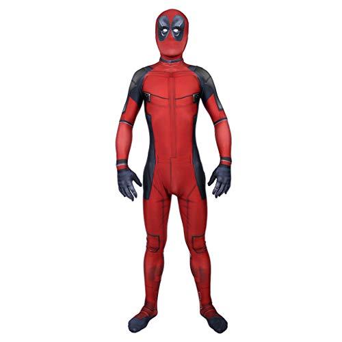 LGYCB Deadpool Anime Cosplay Bodysuit-Kind-Jungen Avenger Film Kostüm Halloween-Partei-Leistung Zentai Geburtstag Maskerade Outfit,Deadpool-Adult L(165~170cm)