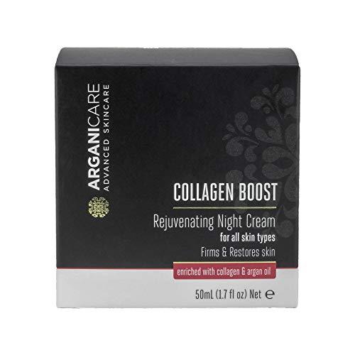 Arganicare Collagen Boost Rejuvenating Night Cream Enriched with Organic Argan Oil 1.7 fl. Oz,