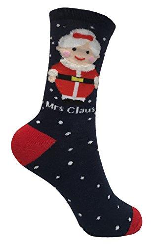 Festive Feet Damen Socken mehrfarbig mehrfarbig Medium Gr. Medium, Mrs Claus