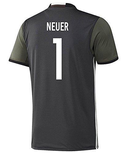 adidas Neuer #1 Germany Away Soccer Jersey Euro 2016 Youth (YXS) White