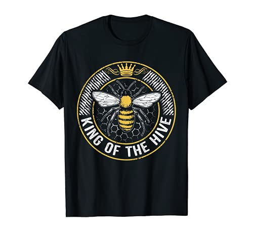 King Of The Hive Beekeeper Bee Lover Honey T-Shirt
