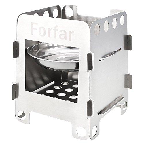 Forfar Estufa de Campaña Portable Hornillo de Acampada Ligero de Leña,...