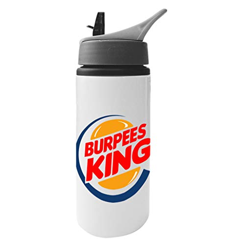Cloud City 7 Burpees King Burger King Aluminium Water Bottle with Straw